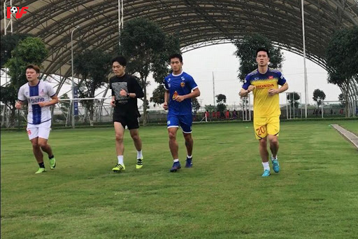 Luong Xuan Truong, from HAGL FC finished his rehabilitation at PVF