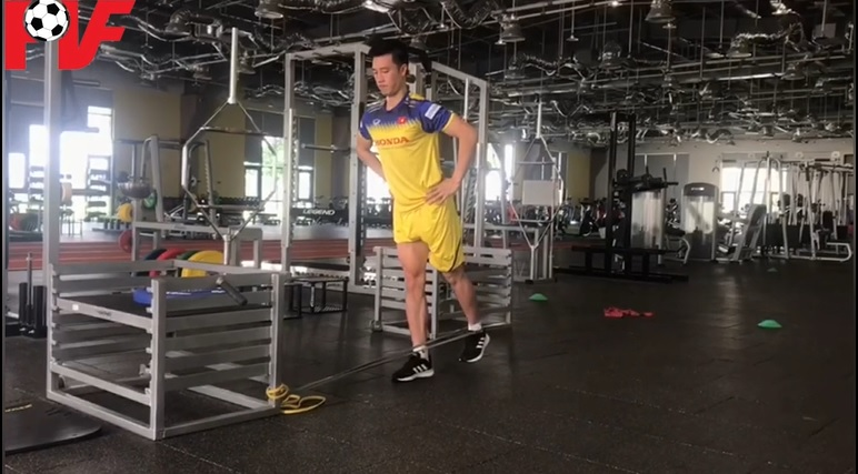 Nguyen Huy Hung, from Quang Nam FC finished his rehabilitation at PVF
